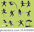 Sticker design with track and field sports 35449989