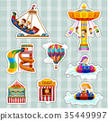 Sticker set for kids playing on rides 35449997