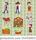 Sticker set for farmers and crops 35450003
