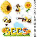 animal living bee 35450009