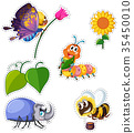 set, many, insect 35450010