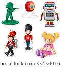 Sticker design with different dolls 35450016