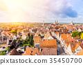 panoramic city skyline in Rothenburg, Germany 35450700