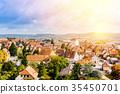 panoramic city skyline in Rothenburg, Germany 35450701