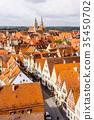 panoramic city skyline in Rothenburg, Germany 35450702