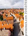 panoramic city skyline in Rothenburg, Germany 35450703