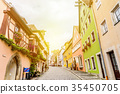 panoramic city view in Rothenburg, Germany 35450705