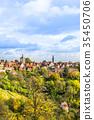 panoramic city skyline in Rothenburg, Germany 35450706