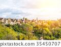 panoramic city skyline in Rothenburg, Germany 35450707