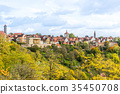 panoramic city skyline in Rothenburg, Germany 35450708