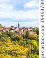 panoramic city skyline in Rothenburg, Germany 35450709