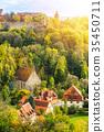 panoramic city skyline in Rothenburg, Germany 35450711