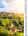 panoramic city skyline in Rothenburg, Germany 35450712
