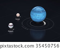 Neptune - planet and moon. 35450756