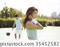 年轻男子,年轻女子,篮球,体育 35452582