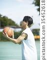젊은남자,스포츠,농구 35452618