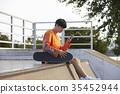 젊은남자,스케이트보드 35452944