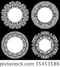 doily, lace, white 35453586