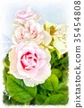 Romantic floral background. Flower. Rose closeup 35454808