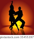 Latin Dance Couple 35455397