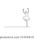 ballerina dancing vector illustration  35456819