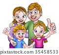 Family Cartoon Characters 35458533