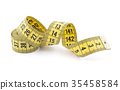 Tailor measuring tape with soft shadow  35458584