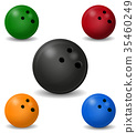 vector, illustration, bowling 35460249