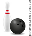 vector, illustration, bowling 35460250