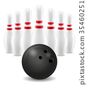 vector, illustration, bowling 35460251