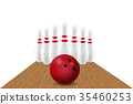 vector, illustration, bowling 35460253