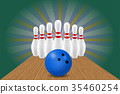 vector, illustration, bowling 35460254