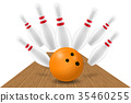 vector, illustration, bowling 35460255