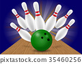 vector, illustration, bowling 35460256