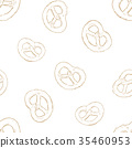 mini salt pretzel, hand draw sketch vector 35460953