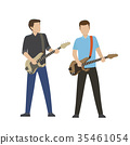 Male Characters Play on Electric and Bass Guitars 35461054