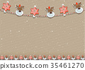 Christmas Background with Decoration 35461270