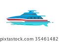 船 汽船 向量 35461482