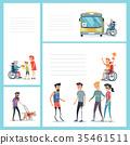 wheelchair, vector, set 35461511