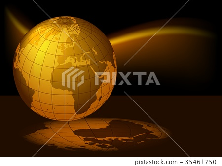 Glowing Grid Globe Earth 35461750