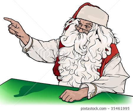 Santa Claus Showing His Finger 35461995