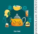 Tea Time Flat Composition 35462015