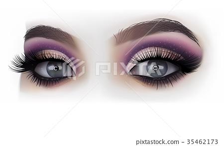 Woman Eyes Fashion Makeup 35462173