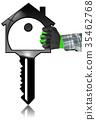 house, model, key 35462768