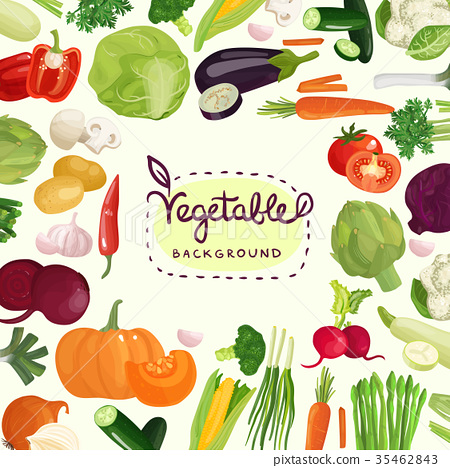 Colorful Vegetables Background 35462843