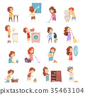icon, set, kid 35463104