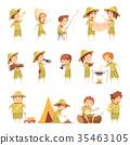 icon, set, boy 35463105