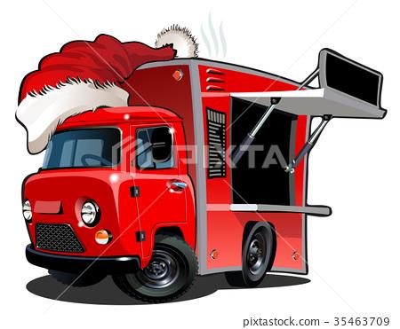 Cartoon food truck 35463709