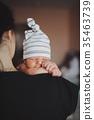 baby, mother, shoulder 35463739