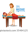 Spa Therapy Vector. Woman Takes A Spa In A Beauty 35464125